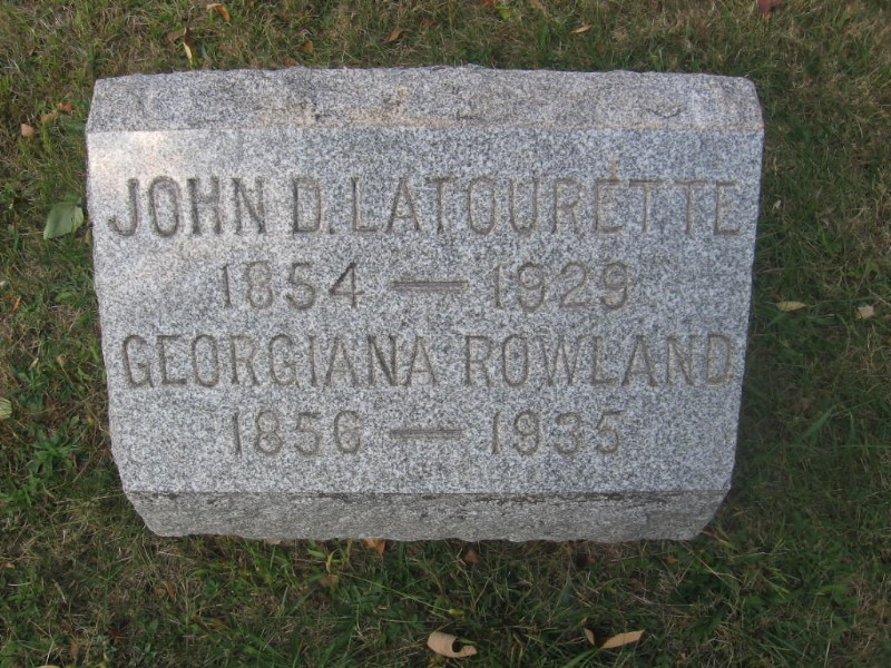 John D. La Tourette and Georgiana Rowland Latourette